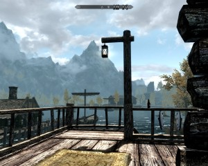 Overlooking the Lake in Riften from Honeyside's back porch.