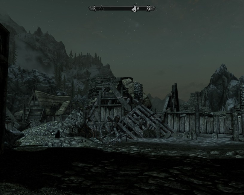 A pile of stone of wood is all that remains of the town of Helgin