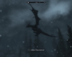 Alduin raises the dragon from the burial ground with a shout.