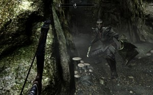 Borgakh crouches outside a cavern, ready to lend a hand.