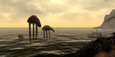 Giant floating tentacle things, apparently they are Netch.