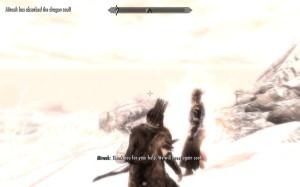Miraak thanks Leona for the tasty dragon soul.
