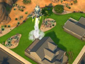 Rocket launching from the backyard.