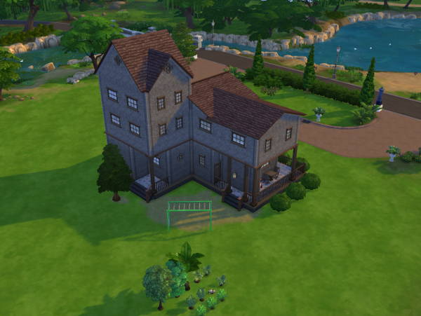 A tower has been built on the back of the house.