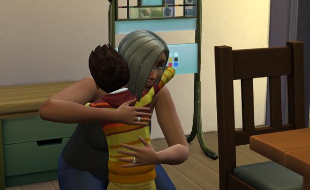 Reef and Lemongrass hugging.