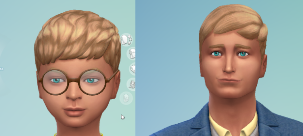 Child and Teenager of blond, blue-eyed Philip.