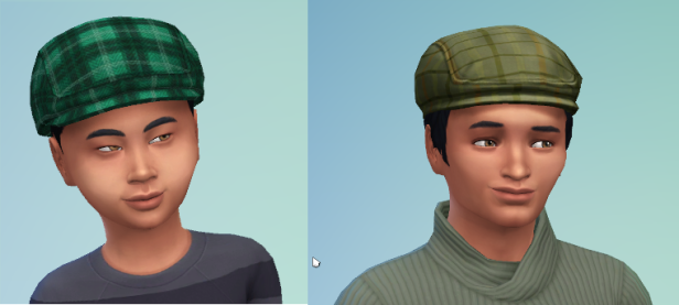 Child and teen images of Rudy. Rudy wears a cap, so you can't see his dark brown hair. He's got golden brown eyes from his mother.