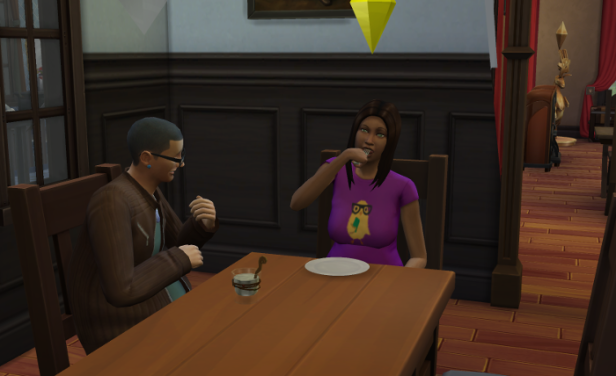 Cason drinks his youth potion over breakfast with Coral.