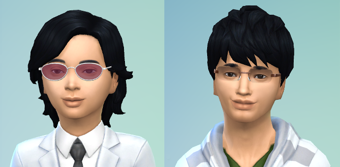 CAS of Boris, longer black hair and dark eyes. As a teenager I think he looks like Harry Potter.