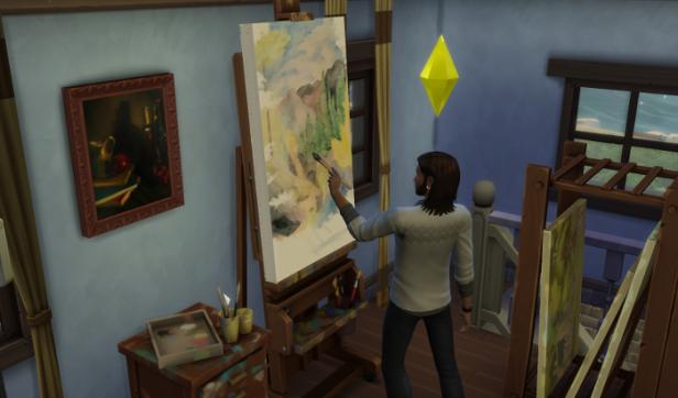Tody contemplates his impressionistic landscape.
