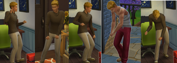 A series of snapshots of Topher, dancing to the music.