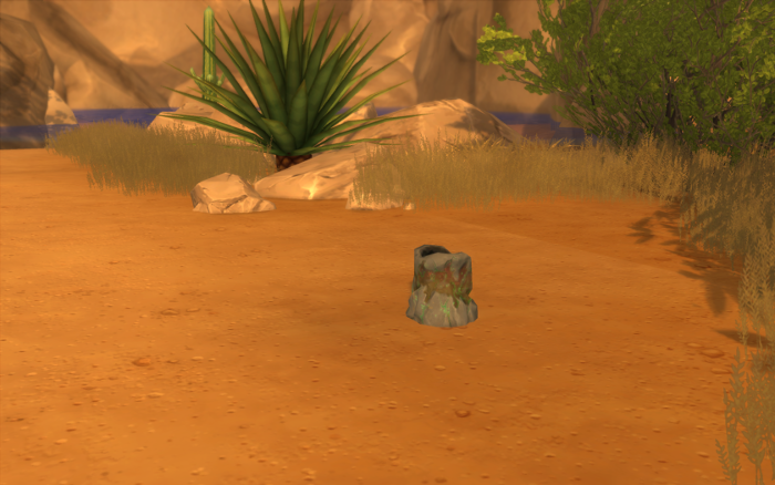 I forget what the task was, but they wanted Cocoa to search a alien vent or hole or something and it took forever to find this tiny - tree trunk shaped - thing.