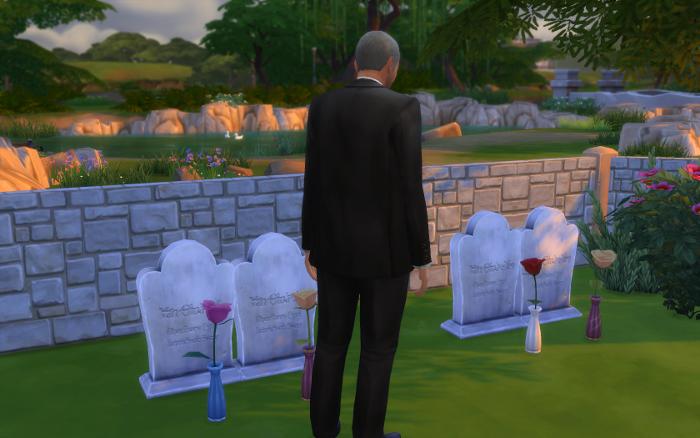Darin examines Galaxy and Sonja's graves (again!)