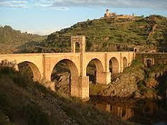 The Alcantara Bridge in Spain.
