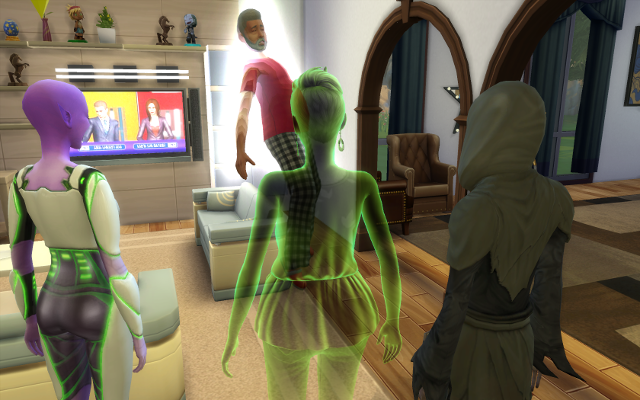 Mina, Galaxy, and the Grim watch as Deshawn is returned to life.