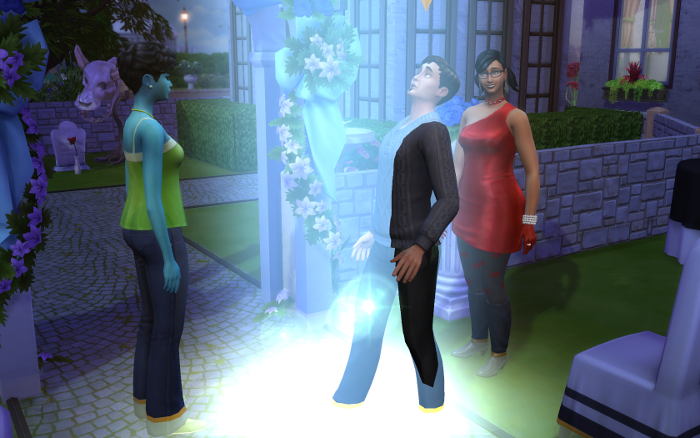 The wedding has ended, Ivy watches as aliens take her husband. Behind him, Harley is grinning ear to ear.