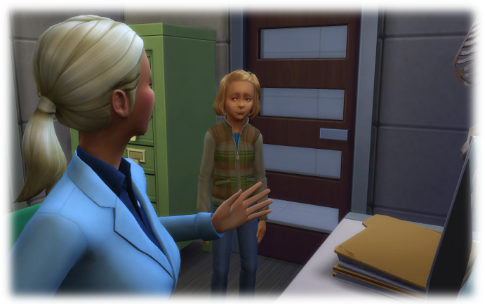 Gracie tries to reassure her daughter that everyone will be okay. Amelia does not look convinced.