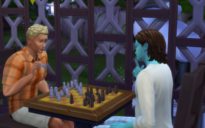 Playing chess with Luthor who's aspiration is to be a nerd brain. Hopefully Michel remembers his childhood wiz kid smarts.
