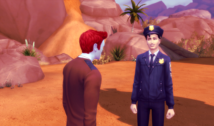 Adam is invited home by the man in the police uniform.