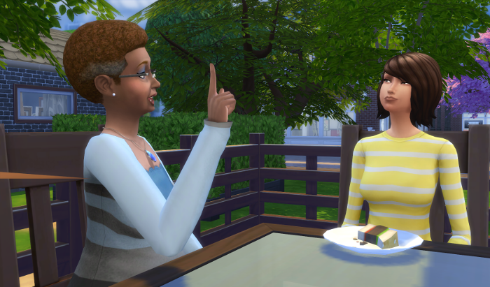 I'm not sure she appreciates the advice her future mother-in-law is giving.