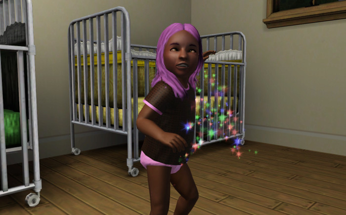 We got rid of the last of our toddlers. This is Rebecca.