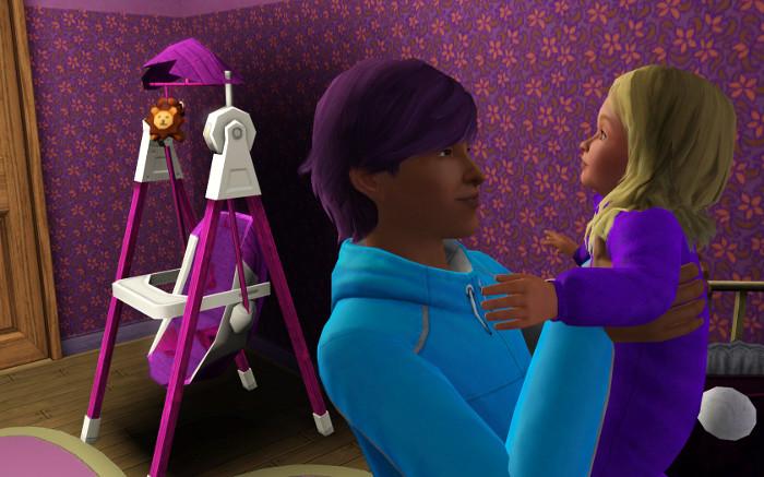 Basil holds his little sister Fleur.