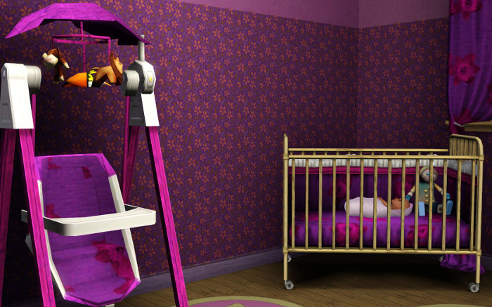 We remade the nursery in Fleur's favorite color.
