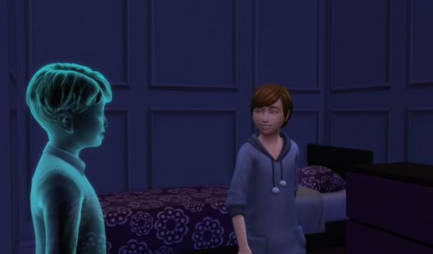 Julia and James in her bedroom.