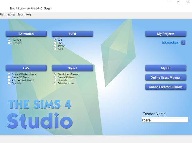 2016-05-14 23_53_09-Sims 4 Studio - Version 2.6.1.5 (Sugar)