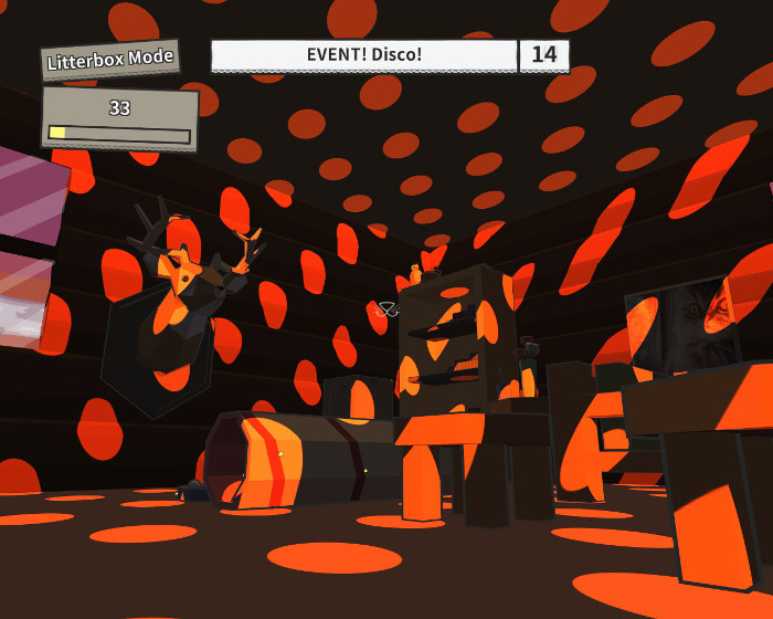"""The game in """"disco"""" mode is filled with swirling lights and it's really hard to see."""