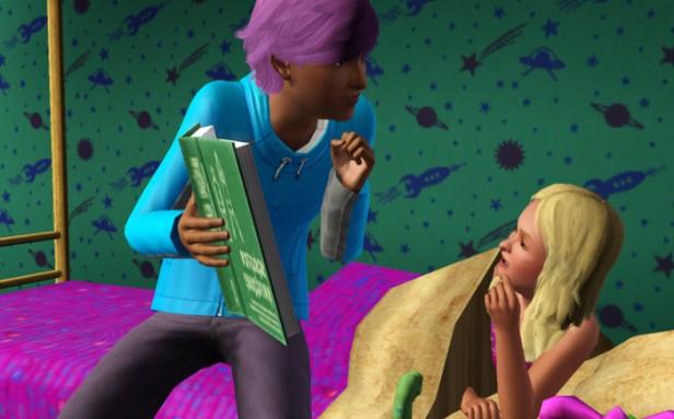 Basil reads to Fleur.