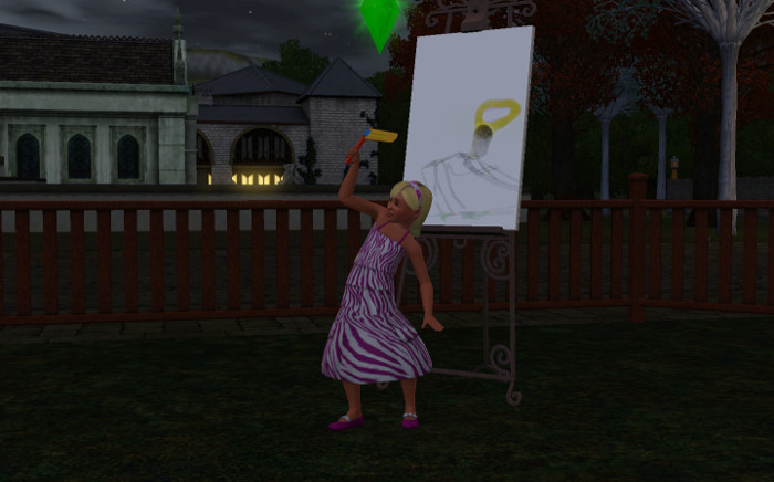 Fleur was drawing, but her birthday interrupted.