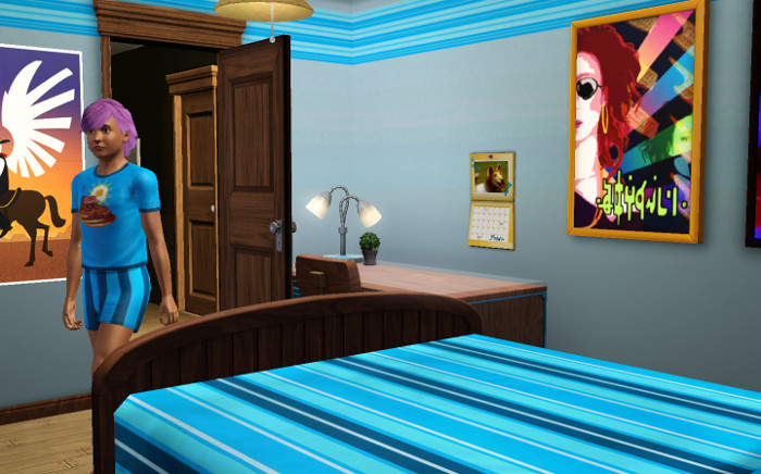 Being heir means you get some awesome perks - like your own bedroom.