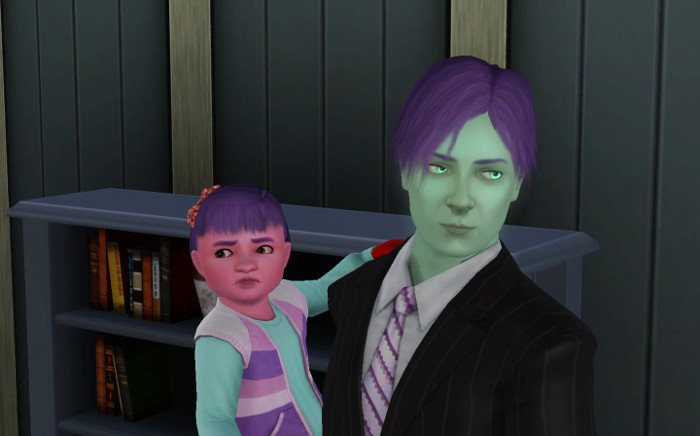 Orion has two children. Lydia did not get her coloring from either parent!