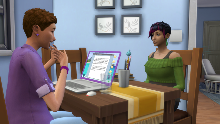 Julia is smiling as she talks about asking Marq to be their donor; Bre is frowning.