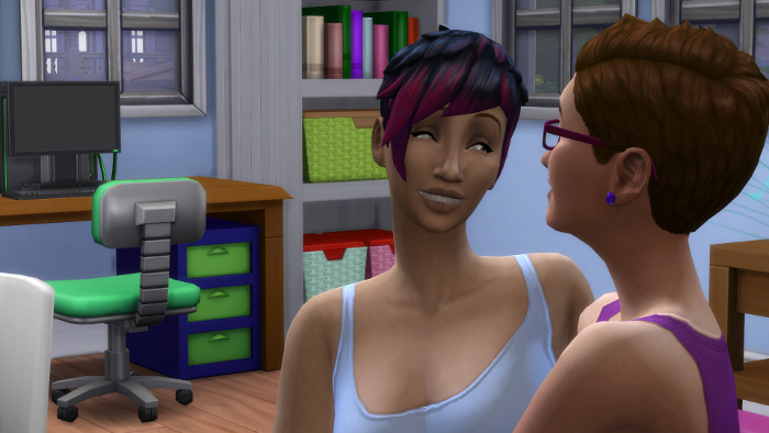 Bre is comforting Julia - this is a close up of Bre's face.
