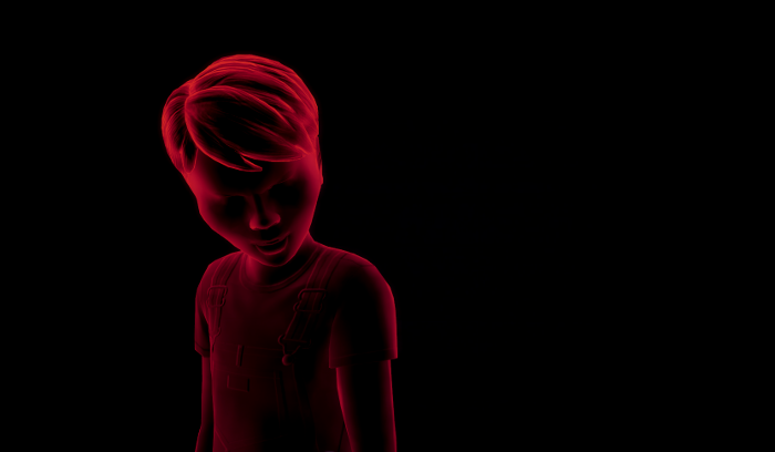 James in the darkness is red with anger.