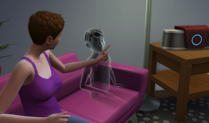 Julia is trying to convince James he is innocent.
