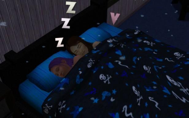 Basil and Brady sleeping together.