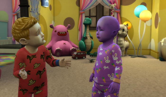 Arturo and Mina are both sadly chatting in their pjs.
