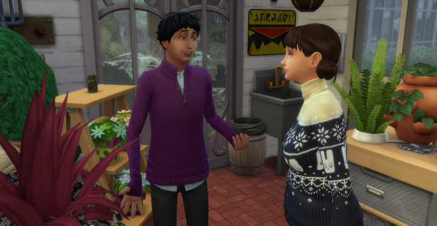 Evelyn and Lane are chatting.