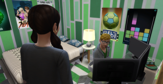 Paige is standing in Pippin's door. He looks annoyed.