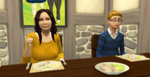 Karen speaks to Pippin. She is concerned. Sam looks sad.