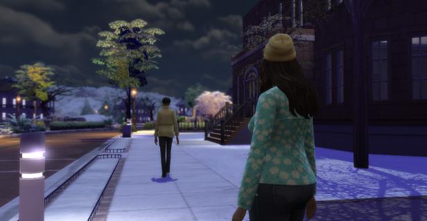 Elisa watches Cam walk away.